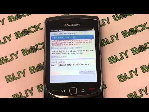 How to restore the factory settings on a Blackberry Torch 9800