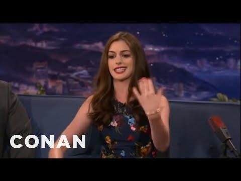Anne Hathaway's Lil' Wayne Style Paparazzi Rap - Conan on TBS