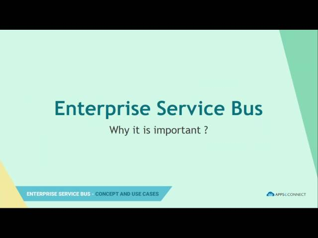 Enterprise Service Bus Concept and Use Case | Webinar | APPSeCONNECT iPaaS