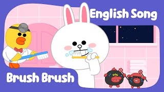 [Brown TV] Brush Brush song | Nursery Rhymes | Line Friends Kids Song