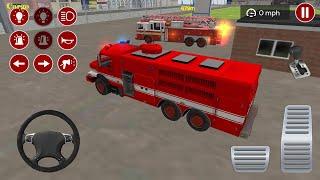 Fire Truck Driving Simulator 2020 - Best Android Gameplay screenshot 3