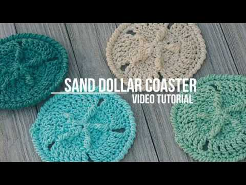 Sand Dollar Coaster Crochet Pattern Tutorial