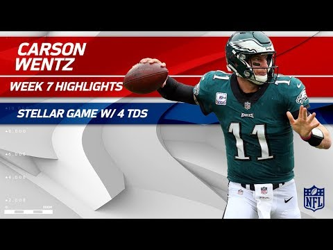 Carson Wentz's MVP Performance w/ 4 TDs! 🏆 | Redskins vs. Eagles | Wk 7 Player Highlights