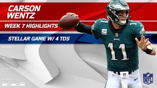 Carson Wentz's MVP Performance w/ 4 TDs! 🏆 | Redskins vs. Eagles | Wk 7 Player Highlights