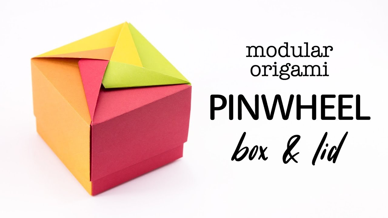 Origami Box with Cover Folding Instructions - How to Fold an ... | 720x1280