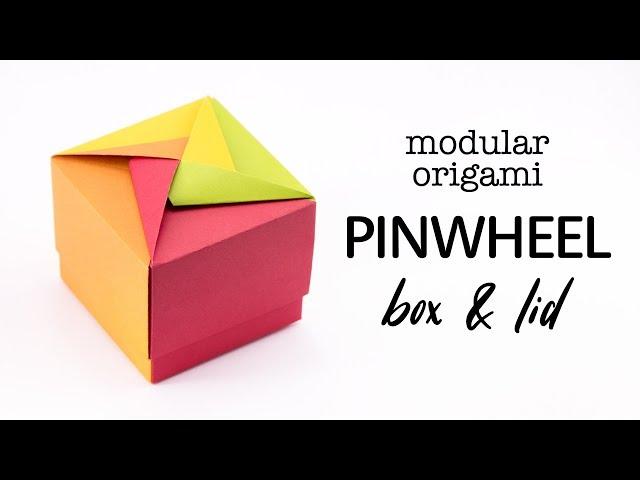 Easy Modular Origami Pinwheel Box & Lid Tutorial - Paper Kawaii
