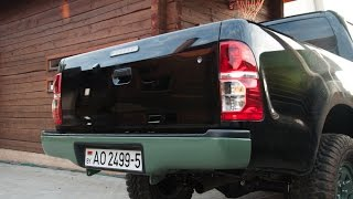 Forced Rear Bumper/Задний силовой бампер(Rear rocker bumper was made of underrun bar, grounded and painted in 3 layers. Сначала противоподкатный брус был отрезан по форме бампера,..., 2015-09-24T06:44:18.000Z)
