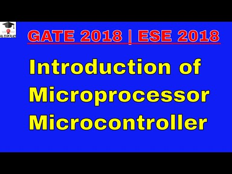 microprocessor and microcontroller lecture for gate 2017 part -1IES|PSU|GATE