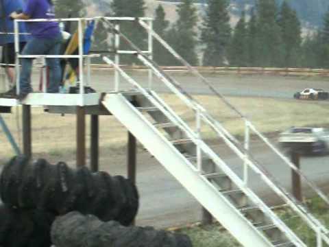 Eagle Track Raceway Modified Main Event Part 4 Aug 9th 2014