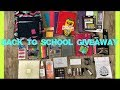 International Back To School Giveaway 2018 (Closed) | Makeup and School Supplies