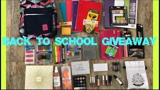 International Back To School Giveaway 2018 (Open) | Makeup and School Supplies