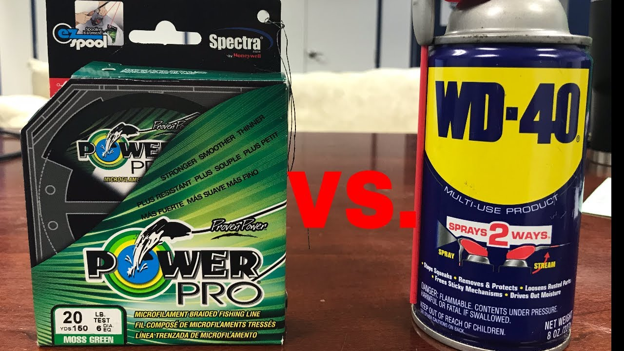 THe TRUTH about WD-40 vs POWER PRO Braided fishing line !