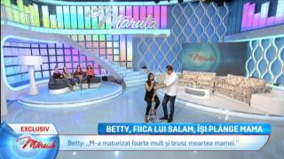 Betty Blue, Fiica lui Florin Salam, dedicatie pentru mama