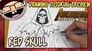[PREVIEW] How to Draw the RED SKULL (Avengers: Infinity War) | Tutorial Time Lapse