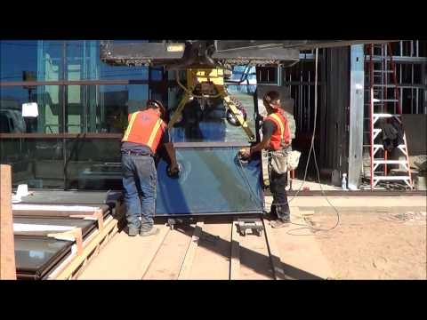 Unitized Curtain Wall System Installation