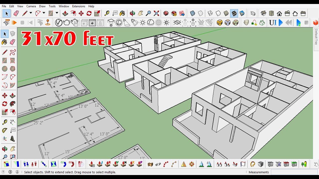 31x70 Feet Home Design Plan Ground Floor Youtube