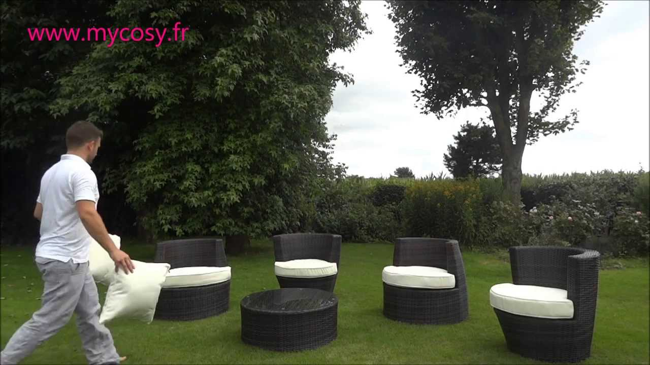 d montage et mise en place du salon de jardin totem youtube. Black Bedroom Furniture Sets. Home Design Ideas