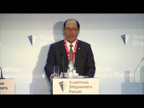 IMO's Lim delivers the keynote at TradeWinds Shipowners Forum at Posidonia 2016