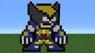 Minecraft 360: How To Make An 8 Bit Wolverine *Remake*
