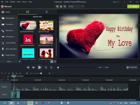 How to Record Professional Poetry with slideshow photos Edit