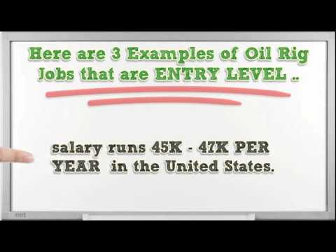 Oil Rig Positions Average Salary for Entry Level Oil Rig Jobs HD
