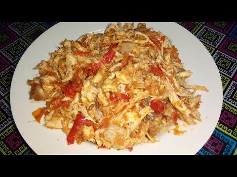 cara-dan-resep-memasak-ayam-suwir-suwir-bumbu-merah-pedas
