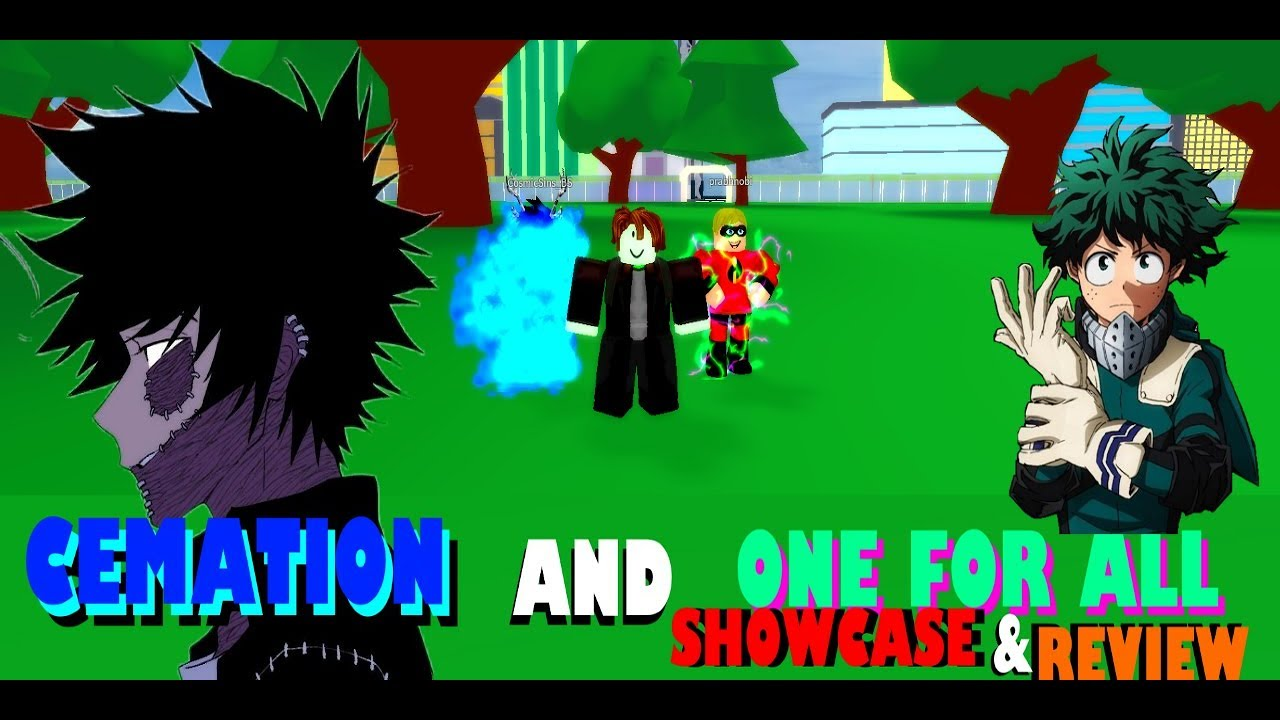 Roblox My Hero Academia Bizarre Adventures | Cemation and One for all  Showcase/Review