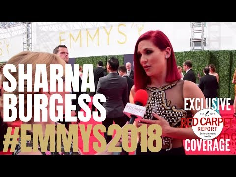 Sharna Burgess interviewed at the 2018 Creative Arts #Emmys Red Carpet #EmmysArts