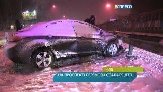 На проспекте Победы из-за потери сознания водителя произошло ДТП