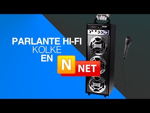 PARLANTE HI-FI KOLKE SD USB CON MICROFONO KARAOKE EN NNET