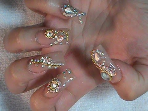 Uñas Estilo Sinaloa o Decoden - YouTube