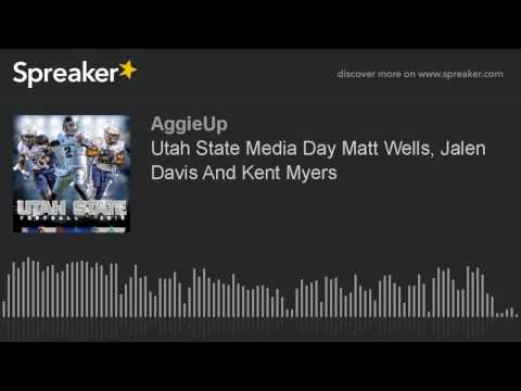 Utah State Media Day Matt Wells, Jalen Davis And Kent Myers