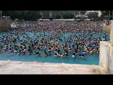 South Korea Trip - Caribbean Bay 5 (above view of wave pool)