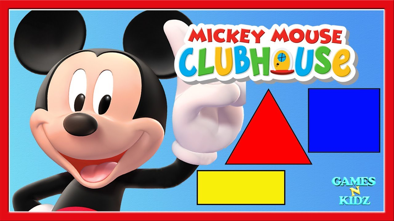 Mickey Mouse Clubhouse Toddler Learn Shapes Colors