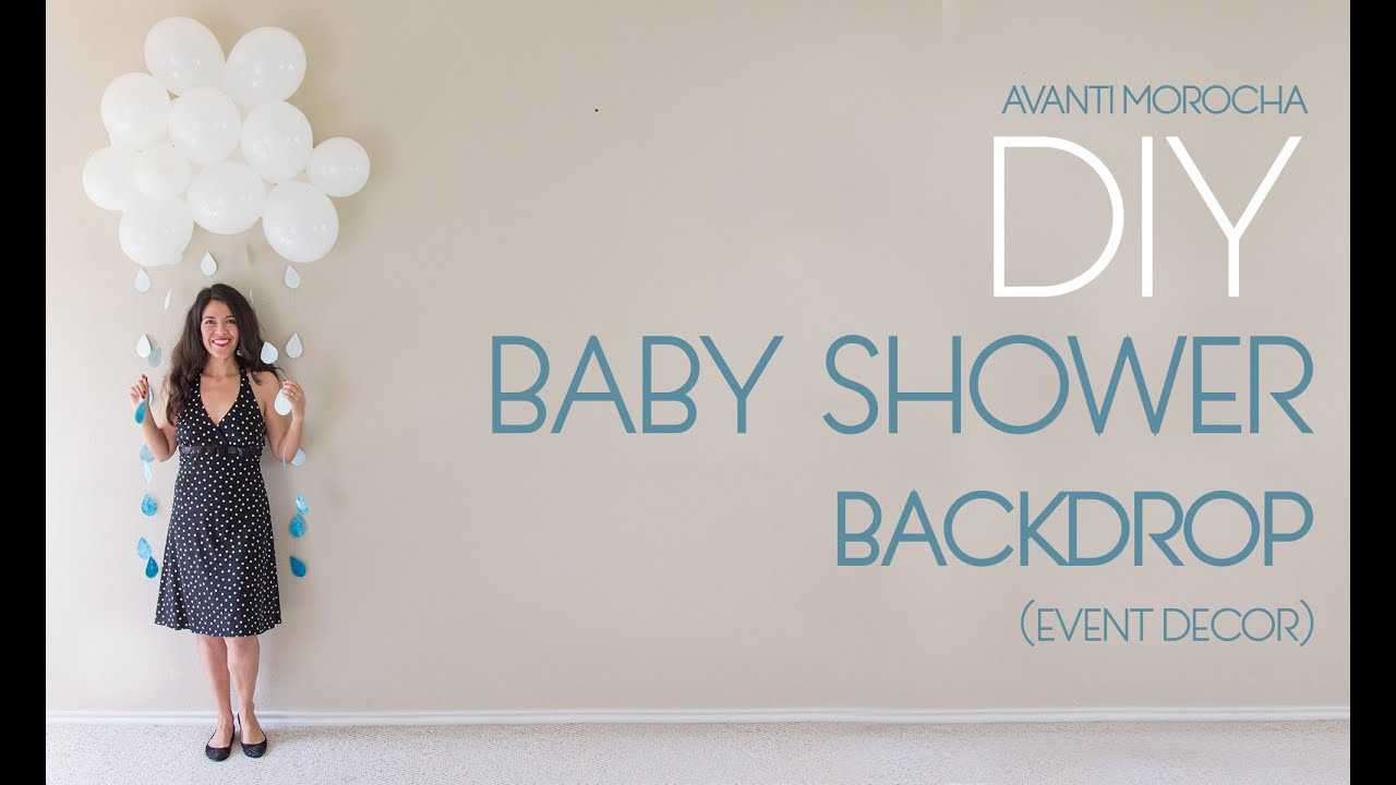 Diy Baby Shower Backdrop Youtube