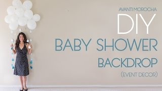 DIY Baby Shower Backdrop