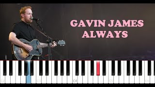 Baixar Gavin James - Always (Piano Tutorial)