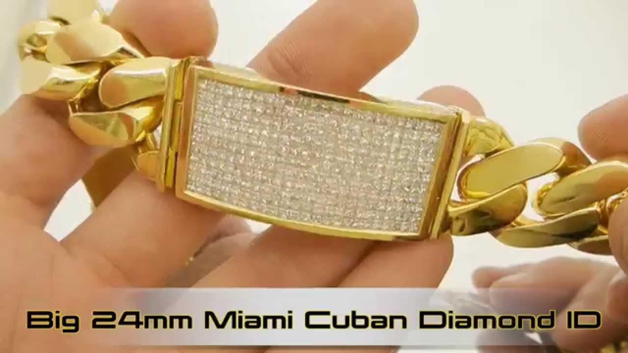 Big Fat Chunky 325g 11ct Diamond Miami Cuban 24mm Id