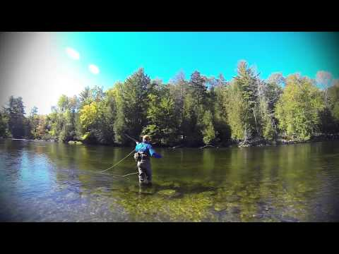 Casting at the Cable Pool - Grand Lake Stream, Maine