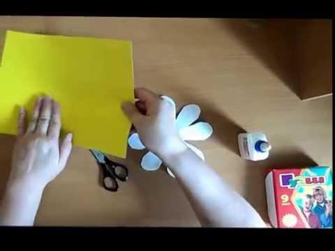 как сделать ромашку из пластиковой бутылки фото