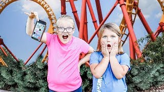 LOST my Dad's iPHONE at an AMUSEMENT PARK!