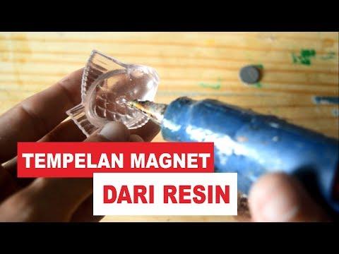 DIY. Tempelan Magnet dari Resin