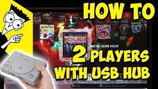 How To Play 2 Players With Usb Hub On Ps Classic Youtube
