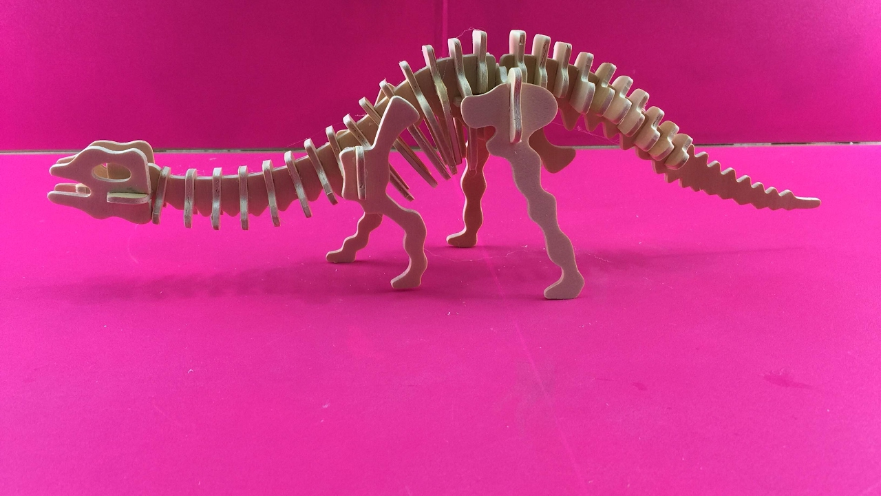 NEW Apatosaurus Wooden Build-A-Dinosaur 3D Model Kit Educational Toys