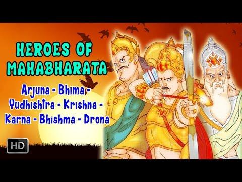 Heroes Of Mahabharata Epic Arjuna Bhima Krishna Karna Bhishma Drona Animated Full Movie Youtube