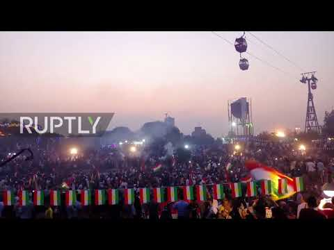Iraq: Erbil residents hold pro-independence rally ahead of upcoming referendum