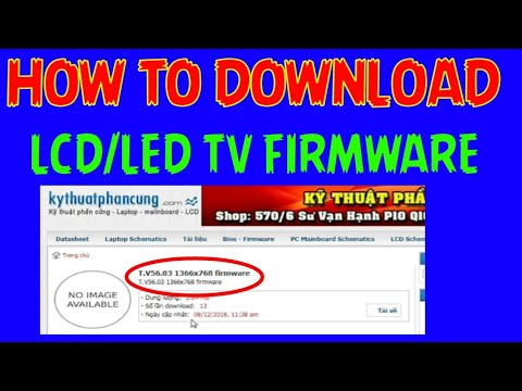 How to download LCD LED TV firmware from internet