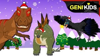 ♧ Merry Christmas Mr. Dino | Top Christmas Songs for children★Genikids