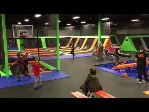 Sights & sounds of Vertical Jump Park at the Millcreek Mall