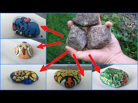 Easy Stone painting | DIY home decoration ideas |